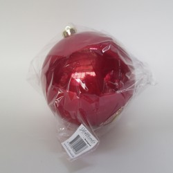 15 cm julekugle, perlemor rød-20