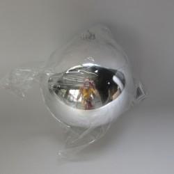 15 cm julekugle, blank sølv-20