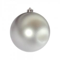 15 cm julekugle, mat sølv-20