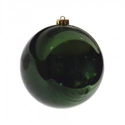 15 cm julekugle, blank grøn-20