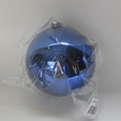 15 cm julekugle, blank blå-20