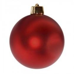 20 cm julekugle, mat rød-20