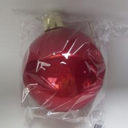 20 cm julekugle, perlemor rød-20