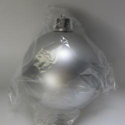 20 cm julekugle, mat sølv-20