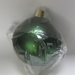 20 cm julekugle, mat grøn-20