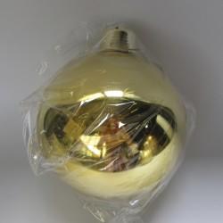 20 cm julekugle, blank guld-20