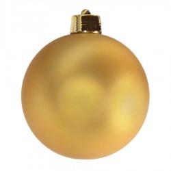20 cm julekugle, mat guld-20