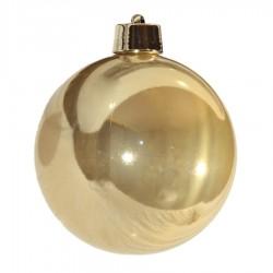 20 cm julekugle, perlemor guld-20