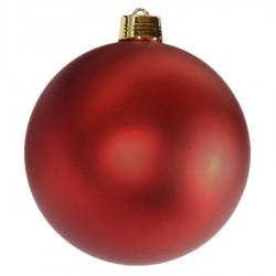 25 cm julekugle, mat rød-20