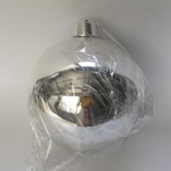 25 cm julekugle, blank sølv-20