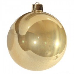 25 cm julekugle, perlemor guld-20