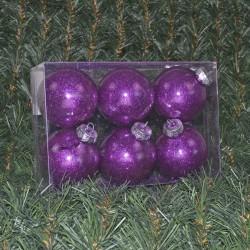 8cmjulekuglerblankmedindvendiglillaglitter6stkiboks-20