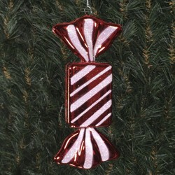 20 cm regtangulær slik, blank rød-20