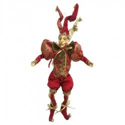 Joker dukke, 30 cm, rød med guld-20