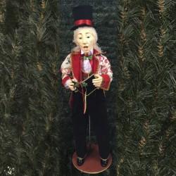 Julesanger, mand, 90 cm, rød, grøn og guld-20