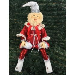 Julemand, 60 cm, rød, hvid og sølv-20