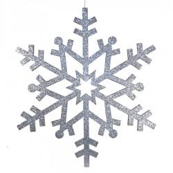 81 cm snefnug, glitter, sølv-20