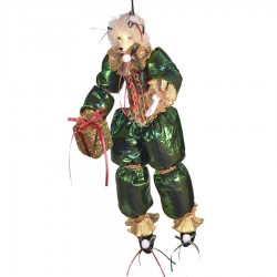 Glad puddel dukke, med gave, 48 cm-20