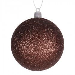 8 cm julekugle, glitter, choko-20