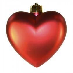 Hjerte, mat rød, 23 cm-20