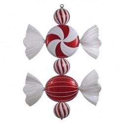 68 cm slik, rødt med hvidt glitter-20