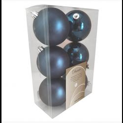 8 cm kugle, midnatsblå, 6 stk i boks-20