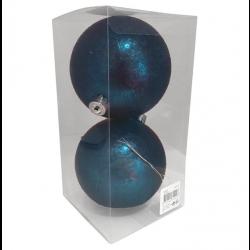 10 cm kugle, midnatsblå-frozen, 2 stk i boks-20