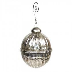 8 cm glaskugle med ornamentering-20