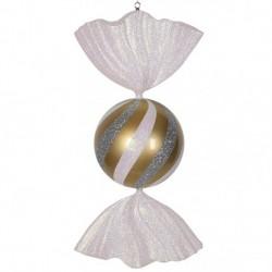86 cm slik, guld med hvidt og sølvglitter-20