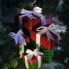 25x25 cm pakke, grøn perlemor m/rødt og lime glitter-02