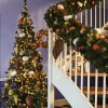 15 cm fjer-ornament, glitter, choko-01