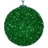 8 cm julekugle, grovglitter, grøn-01