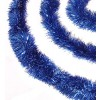 3 meter blå lametta, eksklusiv kvalitet, Ø15 cm, 3 meter,-01
