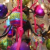 8 cm julekugle, mat, pink-01