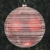 20 cm julekugle, perlemor rød med vandrette penselstriber-01