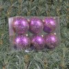 6cmjulekuglermatlillameddekoafchampagneglitter6stkiboks-07