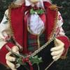 Julesanger, mand, 90 cm, rød, grøn og guld-01