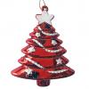Juletræsophæng, sæt a 2 stk, 7x9 cm, rød med glitter-01