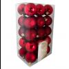 Julekugler, Rød mix, 6 cm, 30stk./boks-05