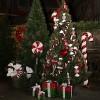 56 cm slikstok, blank, rød m/hvidt og grønt glitter-01