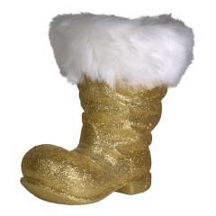 Julemandens støvle, 26 cm guld glitter