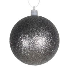 8 cm julekugle med glitter, gunpowder