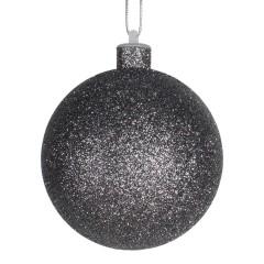10 cm julekugle med glitter, gunpowder
