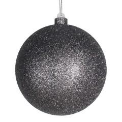 14 cm julekugle med glitter, gunpowder