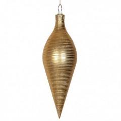 40 cm top, mat guld m/guldglitter