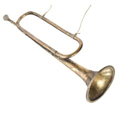 54 cm Signalhorn, antik guld m/champagne glitter