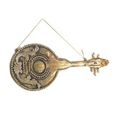 29 cm Lut, antik guld m/champagne glitter