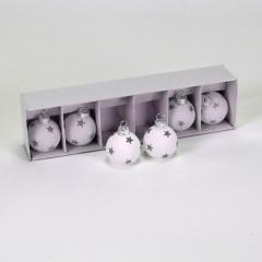 Bordkortholdere, hvid m/sølvstjerner