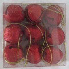30 mm bjælder, rødt glitter