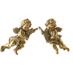 28 cm engle, antik guld, sæt a 2 stk.